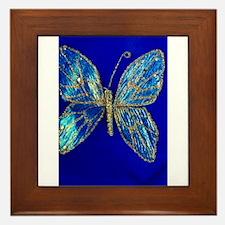 Glitter Butterfly Framed Tile