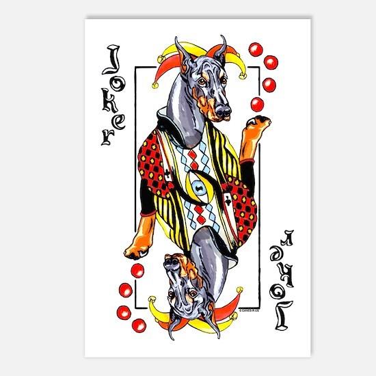 Blk Doberman Joker Postcards (Package of 8)