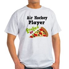 Air Hockey Player Pizza T-Shirt
