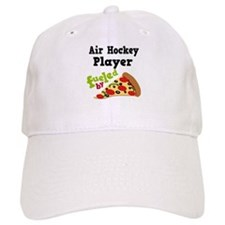 Air Hockey Player Pizza Baseball Cap