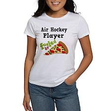 Air Hockey Player Pizza Tee