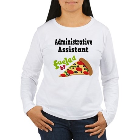 Administrative Assistant Funny Pizza Women's Long