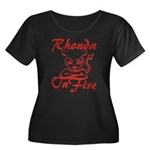 Rhonda On Fire Women's Plus Size Scoop Neck Dark T