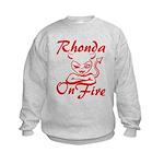 Rhonda On Fire Kids Sweatshirt