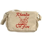Rhonda On Fire Messenger Bag