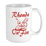 Rhonda On Fire Large Mug