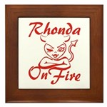 Rhonda On Fire Framed Tile