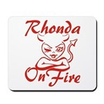 Rhonda On Fire Mousepad