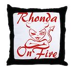 Rhonda On Fire Throw Pillow