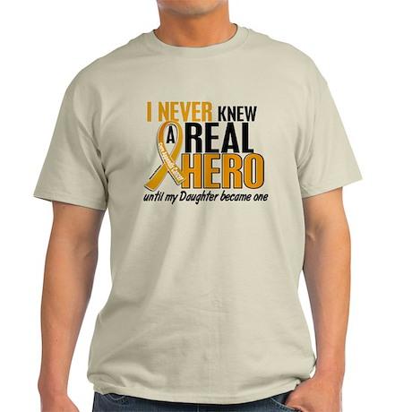 Never Knew a Hero 2 Appendix Cancer Light T-Shirt