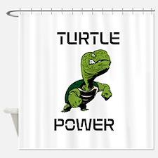 turtle power Shower Curtain