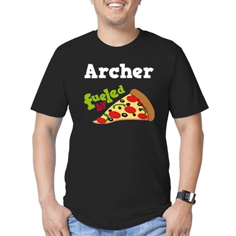Archer Funny Pizza Men's Fitted T-Shirt (dark)