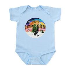 XMusic2-GreatDane (blk-cr) Infant Bodysuit