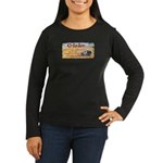 Iconic Clam Lake Lodge Women's Long Sleeve Dark T-