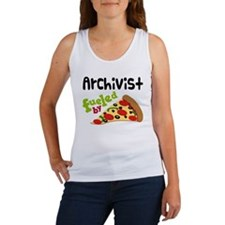 Archivist Funny Pizza Women's Tank Top