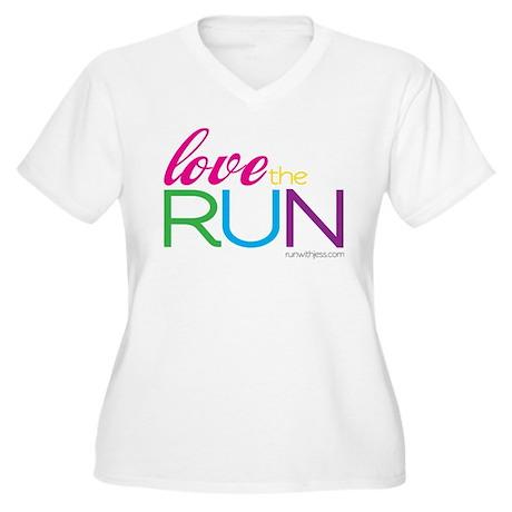 Love the Run 2 Women's Plus Size V-Neck T-Shirt