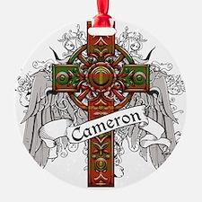 Cameron Tartan Cross Ornament
