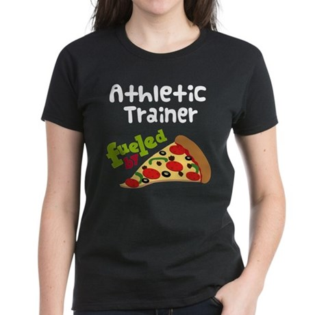 Athletic Trainer Funny Pizza Women's Dark T-Shirt