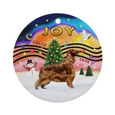 XMusic2-Irish Setter Ornament (Round)
