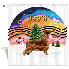 XMusic2-Irish Setter Shower Curtain