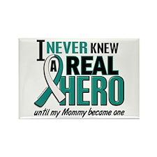 Never Knew a Hero 2 Cervical Cancer Rectangle Magn