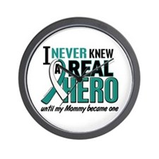 Never Knew a Hero 2 Cervical Cancer Wall Clock