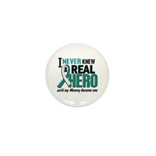 Never Knew a Hero 2 Cervical Cancer Mini Button (1