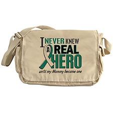 Never Knew a Hero 2 Cervical Cancer Messenger Bag