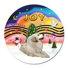 XMusic2-GreatPyrenees 1 Round Car Magnet