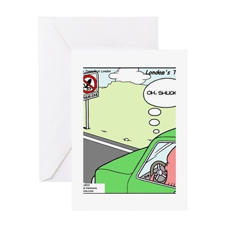 No Squid Zone Greeting Card