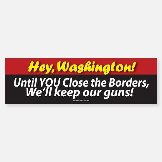 Anti-Gun Control Sticker (Bumper)