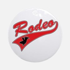 Rodeo (red) Ornament (Round)