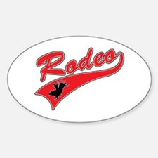 Rodeo (red) Oval Decal