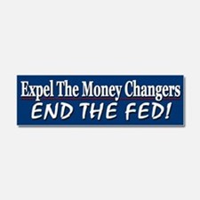 Expel The Money Changers Car Magnet 10 x 3