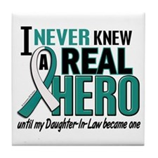Never Knew a Hero 2 Cervical Cancer Tile Coaster