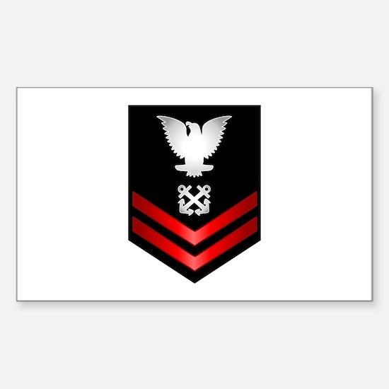 Navy PO2 Boatswain's Mate Sticker (Rectangle)