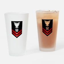 Navy PO2 Boatswain's Mate Drinking Glass