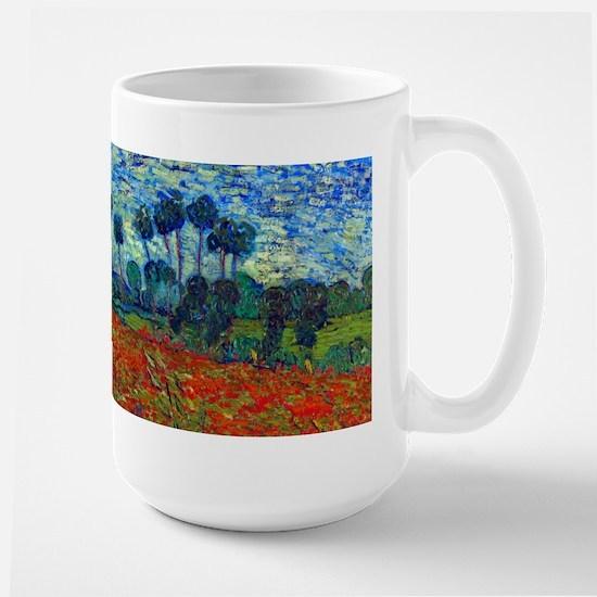 Van Gogh - Poppy Field Large Mug