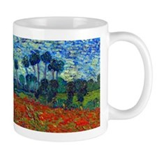 Van Gogh - Poppy Field Small Mugs