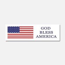 God Bless America Flag Car Magnet 10 x 3