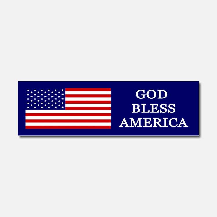 God Bless America Blue Car Magnet 10 x 3