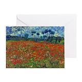 Poppy fields card Greeting Cards