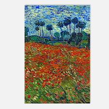 Van Gogh - Poppy Field Postcards (Package of 8)