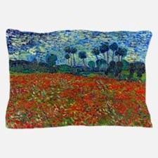 Van Gogh - Poppy Field Pillow Case