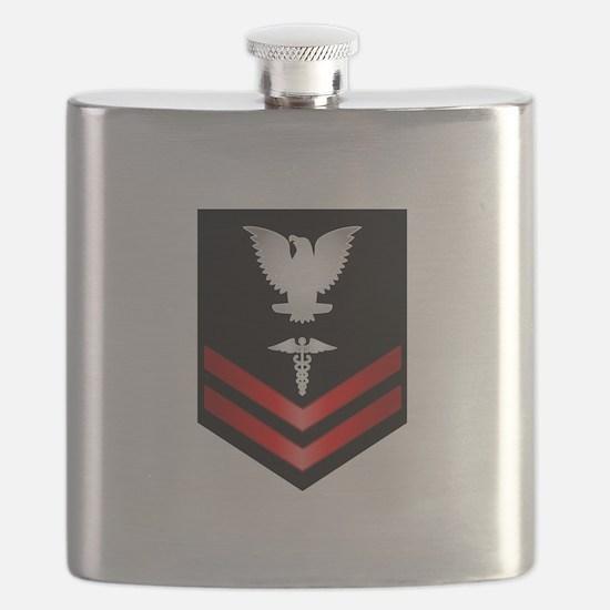 Navy PO2 Corpsman Flask