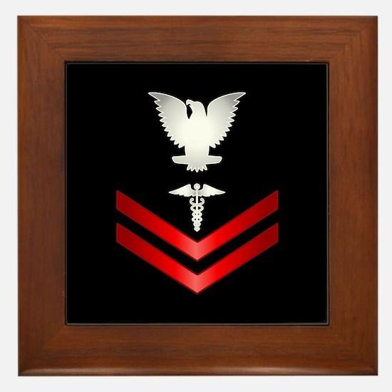 Navy PO2 Corpsman Framed Tile