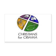 Christians for Obama Rectangle Car Magnet