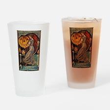 Vintage Halloween Card Drinking Glass