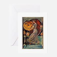 Vintage Halloween Card Greeting Card