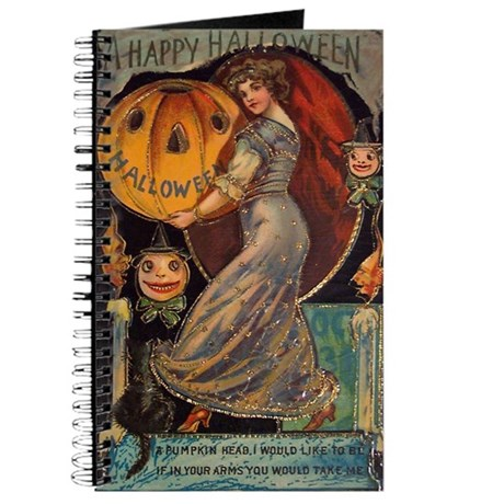 Vintage Halloween Card Journal